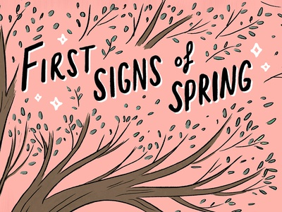 First Signs Of Spring Comic cover design hand lettering art comic book art hand lettering comic comics
