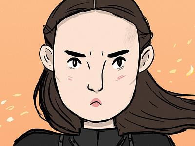 Lyanna Mormont from Game Of Thrones got lyanna mormont drawing comicsart comics illustration art illustration character design fan art game of thrones