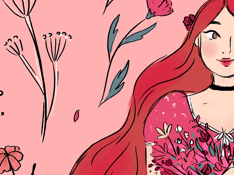 In Bloom digital art art comics drawing illustration