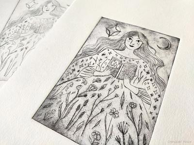 Intaligo Printing print intaglio ink drawing illustration