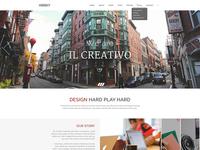 Freebie: Hooky - creative landing page (PSD)