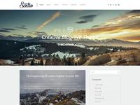 Freebie: Sentio - creative blog WordPress theme