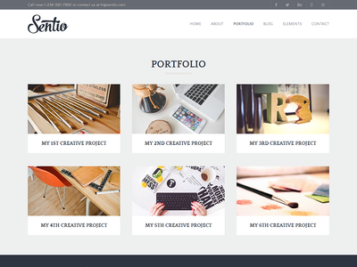 Sentio Pro - clean, light WordPress theme cms resource design premium modern clean layout wordpress template theme freebie free