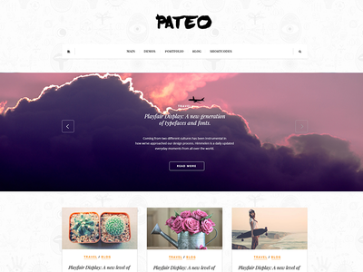 Pateo - creative layout for bloggers theme psd template blog design freebie free