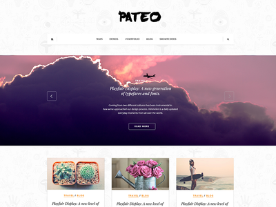 Pateo - creative layout for bloggers