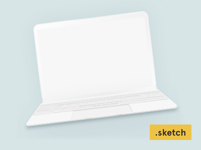 Freebie: the new MacBook minimalist mockup minimalist clean sketch mockup macbook new freebie free