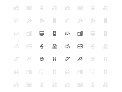 12 free vector icons - designer's house