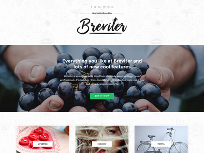 Breviter - free PSD for creative bloggers