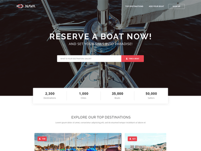 Nava free HTML template design website ship boat responsive modern clean theme template html freebie free