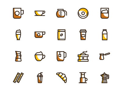 Free coffee vector icons