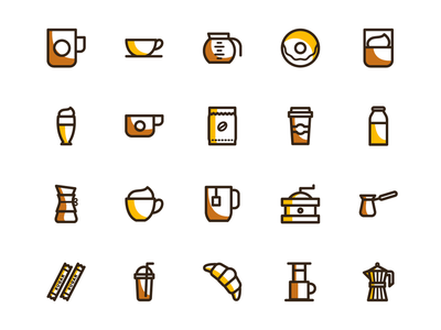 Free coffee vector icons design resource frebie free coffee set svg png vector icons