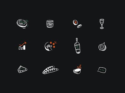 Cashpad Icons coins good coffee restaurant brush illustration brand design design icon design icons