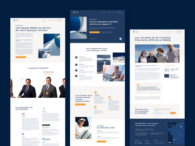 My PENSION xPER Website logo website concept quote footer menu team icons article homepage design interface uiux design ux ui
