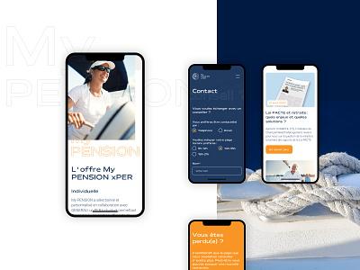 My PENSION xPER Mobile design responsive mobile design 404 page contact ui design interface design ux ui