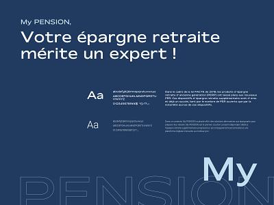 My PENSION xPER Typography branding typography interface design ui design brand identity design