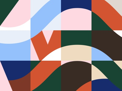 We wave 浪 Pattern illustration pattern brand identity brand design design