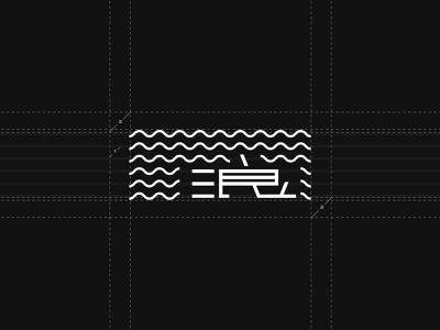 We wave 浪 Logo detail brand design logo brand identity branding design