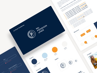 My PENSION xPER Style guidelines interface guidelines styleguide logo buttons colors ux ui design ui design