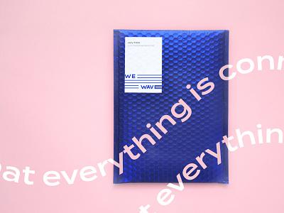 We wave 浪 Envelopes typography design envelope brand identity branding logo brand design