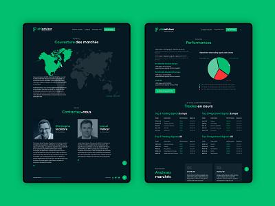 Phiadvisor Website fiance inspiration uidesign ux ui performance contact map ui design concept website design interface