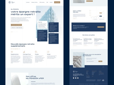 My PENSION xPER Proposition icons homapage siteweb interface design interface design ui design
