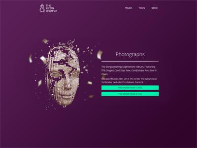 Aston Shuffle Artist Site website music parallax parallax scrolling video fullscreen landing page store