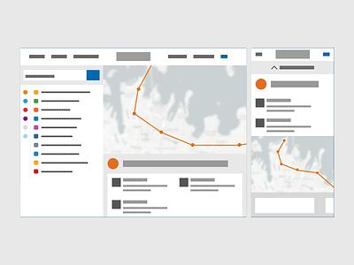 Low Fidelity Map & Way finder prototyping ux ui low fidelity