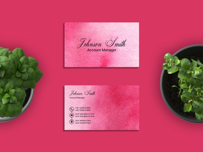 Watercolor business card template business cards business card template design business card design branding template card business watercolor painting