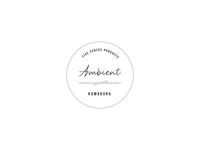 Ambient Sticker japan kamakura simple logo design logo ambient