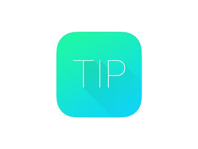 Tip sky-blue green icon app ios tip