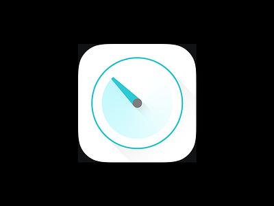 Timer white green icon ios timer
