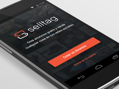 Welcome — Selltag for Android freelance splash login landing client selltag android render nexus app buy startup