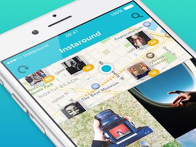 Instaround App personal instaround app ios iphone instagram location nearby around