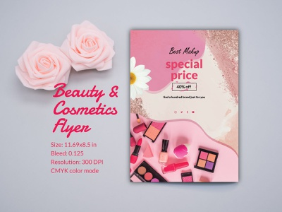 Beauty & Cosmetics Flyer Design advertising cosmetics business flyer makeup hair care business promotion skin care beauty care flyer branding flyer example personal branding branding flyer cosmetics product flyer organic cosmetics flyer cosmetics flyer shop cosmetics flyer sample