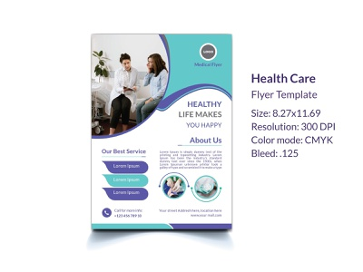 Medical Health Care Flyer template flyer template dental doctor business promotion modern medicine pharmacy pharmaceutical professional hospital surgery treatment medical healthcare creative branding flyer brand identity design advertising clinic