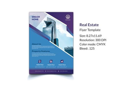 Real Estate flyer template floor