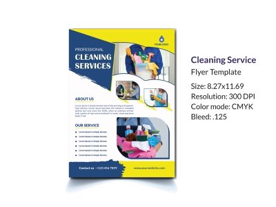 Cleaning Service Flyer Template poster template