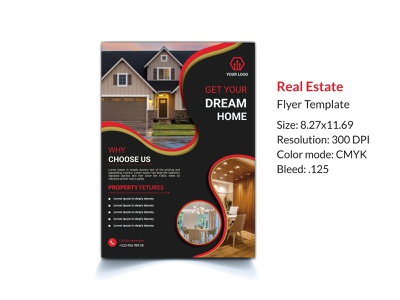 Real estate flyer template sell