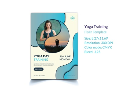 Yoga Flyer Template post