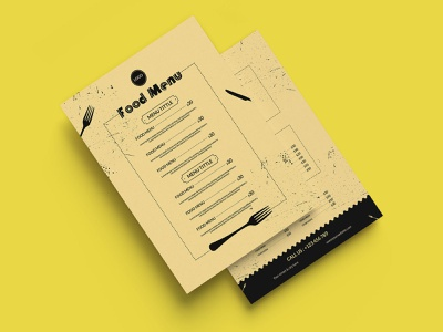 Food menu template white menu
