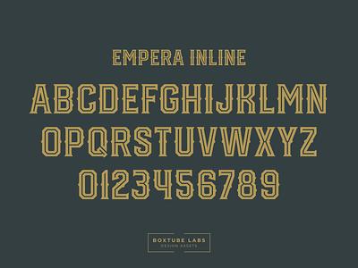 Empera Inline typography sport branding block type