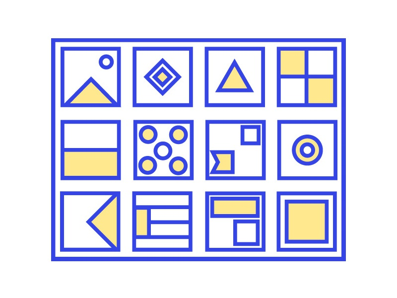 shapes abstract illustration
