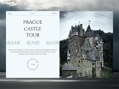 Prague castle tour castle travel web ui design