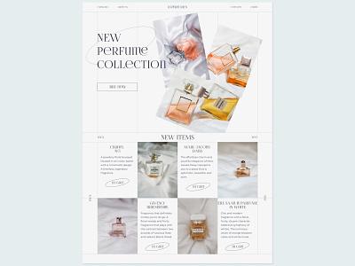 Perfume store beauty fashion fragrance store online perfume cosmetic website webdesign ui web design