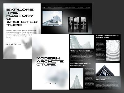 History of architecture building art modern web design architecture black history typography brutalism design web ui