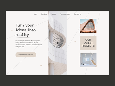 Architectural agency project building house modern architectural agency architecture typography web ui design