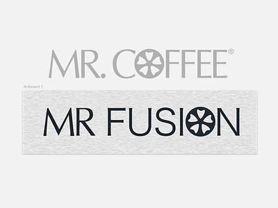WIP Mr. Fusion Logo branding type wip logo
