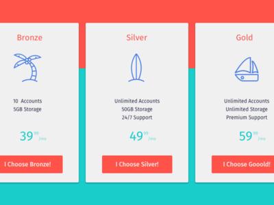 DAILY UI* - Pricing