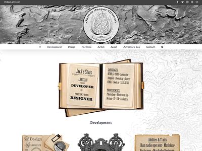 Jack-Grimm.com Logo, Graphic, & Web Design mountains adventure topography portfolio website creative websites pinecone web design