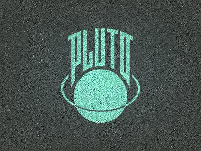 Pluto Logo astronomy custom type handlettering vector experimental type planet pluto logo grid cosmos typography